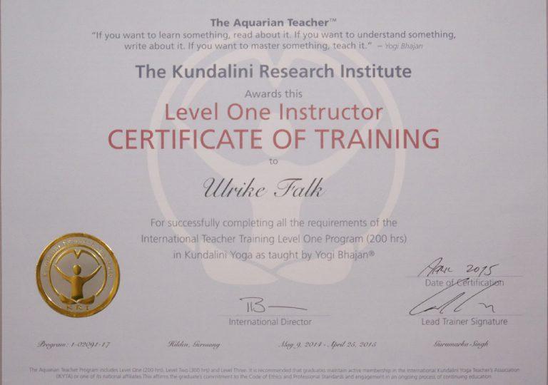 Ulrike Falk - Level One Instructor - The Kunalini Research Institute
